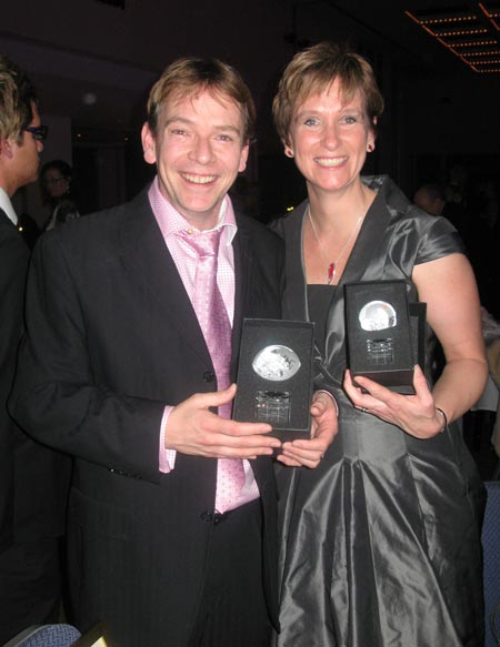 Adam Woodyatt and myself delighted with our awards